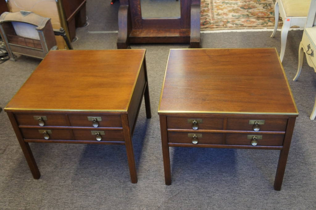 2 Vtg Imperial Furniture Mahogany End Side Tables Grand Rapids Mid Century  Modern
